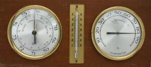 Hygrometer und Barometer - die klassische Wetterstation