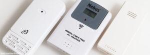 Drei Aussensensoren der Funkwetterstationen im Test