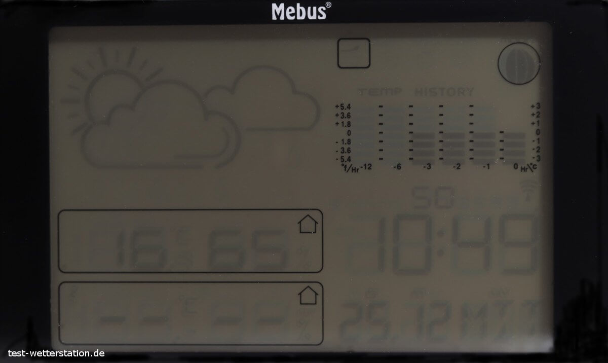 mebus funkwetterstation display