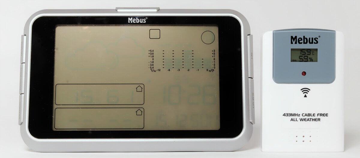 Mebus Funkwetterstation mit Aussensensor