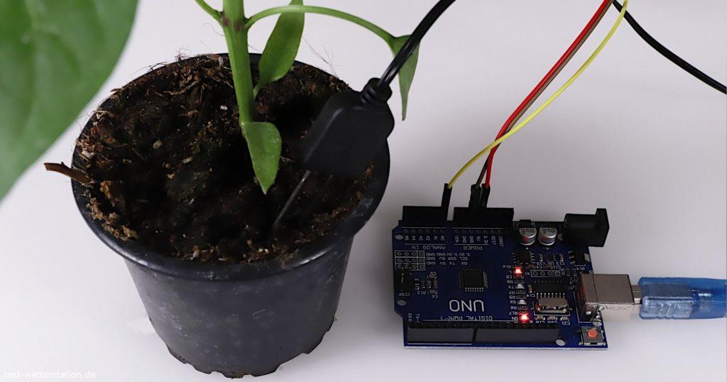 arduino analog moisture sensor pflanze