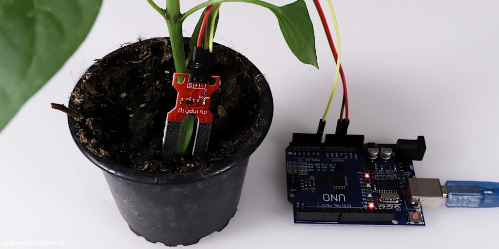 arduino diy duino moisture sensor pflanzen